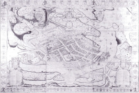 Pictorial map of mid-seventeenth century Galway